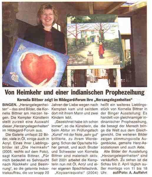 15.03.2006 - Neue Binger Zeitung, Bingen