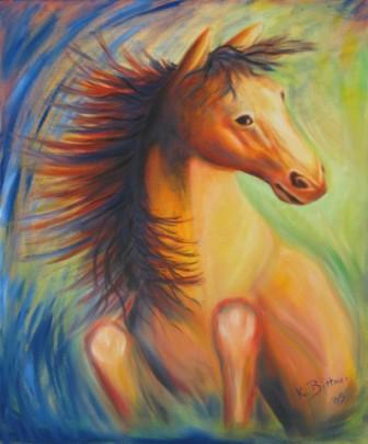 Das gelbe Pferd