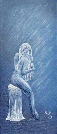 Frau sitzend