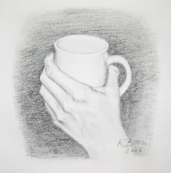 Hand mit Tasse