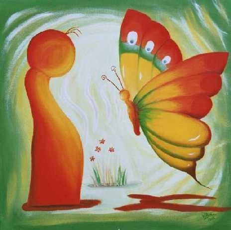 Meeting mit Schmetterling