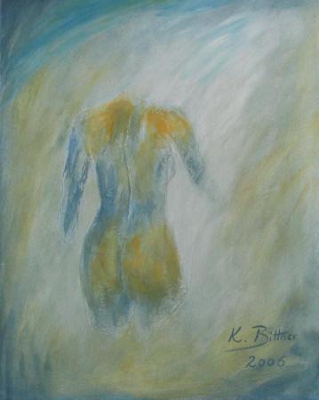 Torso Weiblich in Blau
