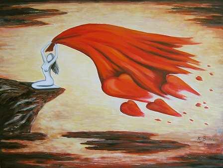 Vom Winde verweht in Rot/Schwarz/Gelb