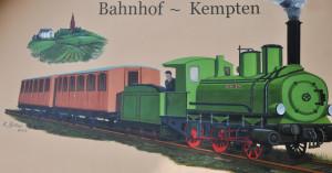 Der Zug auf der Vorderseite